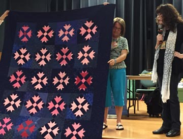 Sharon Cummings, Quilt by Indiana Amish woman